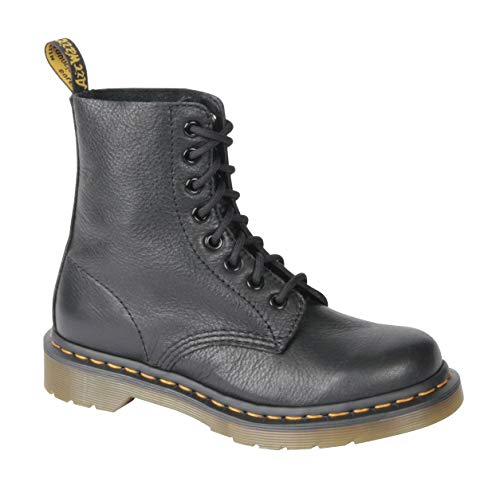 Dr. Martens Women's Pascal Combat Boot, Black, 5 UK/7 M US (Side Zip Stretch Platforms)