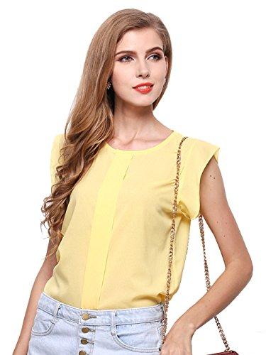Zhaoyun Women's Casual Loose Short Sleeve Chiffon Top T-Shirt Blouse (Beaded Georgette Skirt Set)
