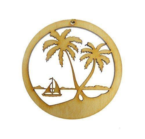 palm tree sailboat ornament beach christmas ornaments personalized beach wedding favors