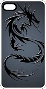 Black Tribal Dragon White Plastic Case for Apple iPhone 5 or iPhone 5s