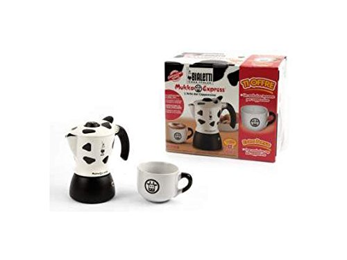 Bialetti Mukka Express 1-Cup Cappuccino Maker + One Exclusive Cup For Cappuccino