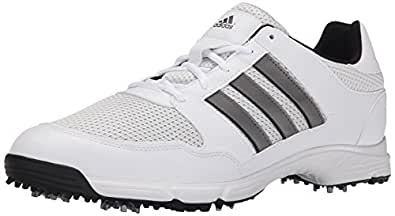 adidas Men's Tech Response 4.0 Golf Shoe,White/White/Dark Silver Metallic,9 W US