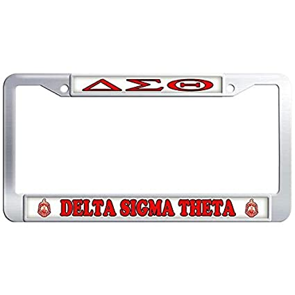 dasokao delta sigma theta personalized auto car license plate frame fraternity sorority logo license plate