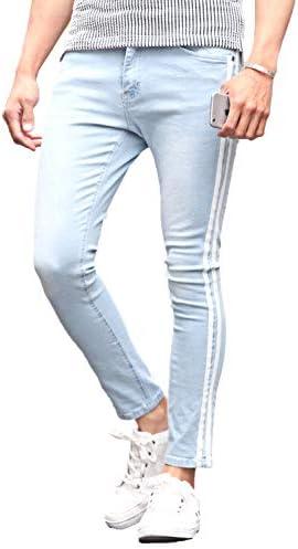 LUX STYLE デニム パンツ メンズ サイドライン スキニーパンツ ジーンズ ストレッチ