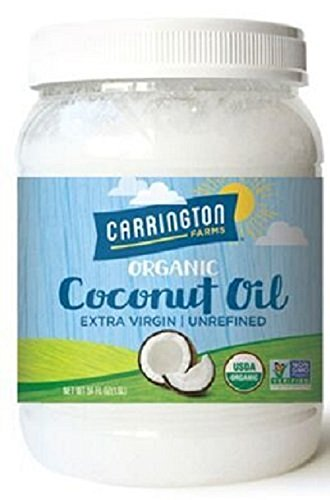 Carrington Farms Gluten Free, Unrefined, Cold Pressed, Virgin Organic Coconut Oil, 54 oz. (Ounce), Coconut Oil For Skin & Hair Care, Cooking, Baking, Smoothies – Packaging May Vary