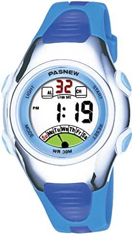 Kids Watch 30M Waterproof Sport LED Alarm Stopwatch Digital Child Wristwatch for Boy Girl Gift Blue