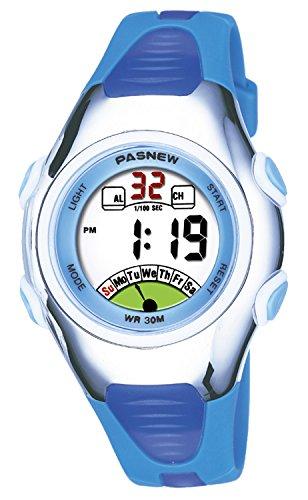 Kids Watch 30M Waterproof Sport LED Alarm Stopwatch Digital Child Wristwatch for Boy Girl Gift Blue