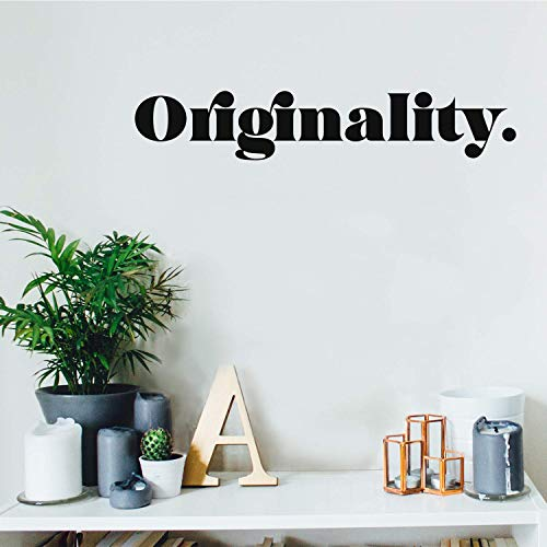 Vinyl Wall Art Decal – Originality – 4″ x 22″ – Trendy Minimalist Simple Quote Sticker for Home Bedroom Living Room Workplace Classroom Apartment Coffee Shop Decor (Black)
