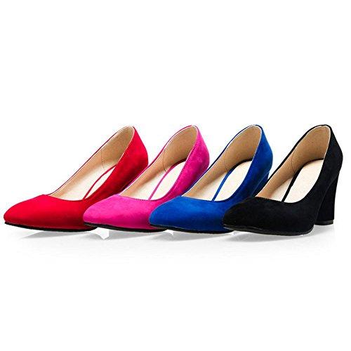 Ancho Zanpa Mujer Zapatos Basic Cordones Blue Tacon Sin 46f4q