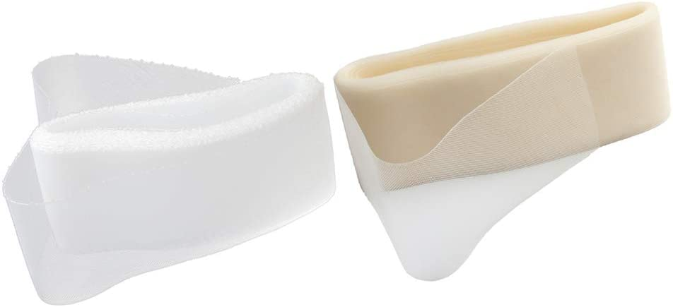 Trenza Marfil Y Blanco de Poliéster Crin de 25 Yardas, 8cm de Ancho
