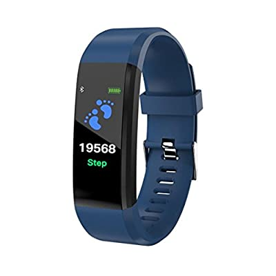 Kanzd Smart Wrist Band Sleep Sports Fitness Pedometer Bracelet Watch with Colorful UI
