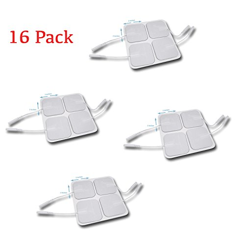 16-Pack-Tens-Unit-Pigtail-Square-Electrode-Pads-2-X-2-Inch-Premium-Quality-510k-FDA-Cleared-Self-Adhesive-Bulk-Wholesale-Replacement-Pads