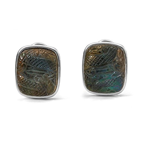 Stephen Dweck femme  Argent 925/1000  Argent|#Silver Coussin   Vert Kristall Quarz