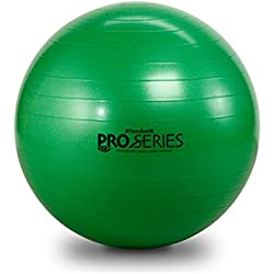 TheraBand Pro Series Exercise and Stability Ball with 65 cm Diameter, Professional Slow Deflate & Burst Resistant Fitness Ball for Improved Posture, Balance, Yoga, Pilates, Core Stability, Green
