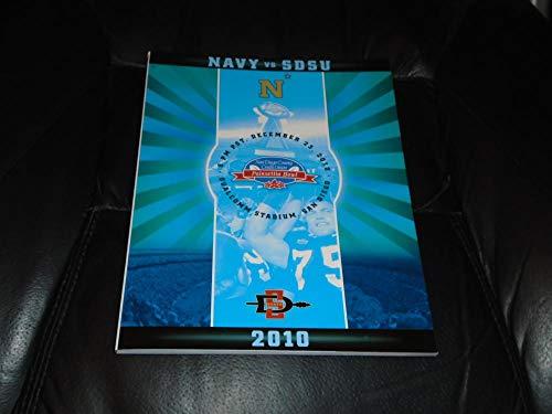 2010 NAVY VS SDSU SAN DIEGO STATE POINSETTIA BOWL FOOTBALL PROGRAM NR MINT