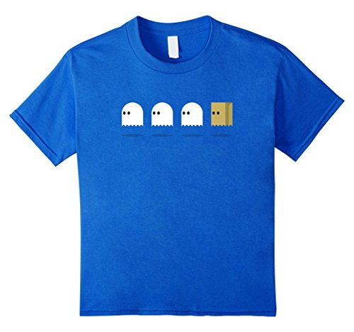 [unisex-child Ugly Ghost Funny Cute Little Ghosts Kids Shirt Girls Clothes 8 Royal Blue] (Little Girl Skeleton Costumes)