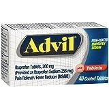 Advil Ibuprofen Film-Coated Tablets - 40 Tablets, Pack of 6
