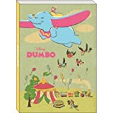 Japan Walt Disney Official Dumbo - Dumbo the Elephant Yellow Brown A6 Big Notebook White Pages Classic Old Movie Poster Cover Design School Supply Stationery Pad Journal Diary Paper Note