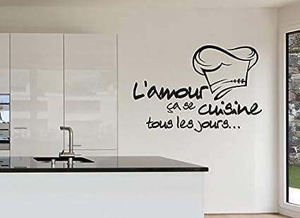 Cucina Reomvable adesivi Stickers per muro in vinile, francese ...