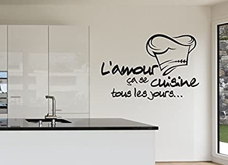 Reomvable Cuisine Stickers French Vinyl Wall Stickers Wallpaper