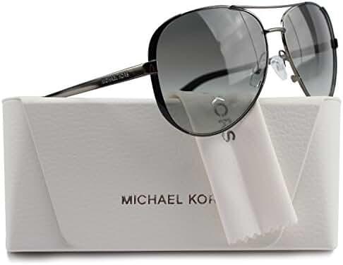 Michael Kors MK5004 Chelsea Aviator Sunglasses Gunmetal w/Grey Gradient (1013/11) MK 5004 101311 59mm Authentic