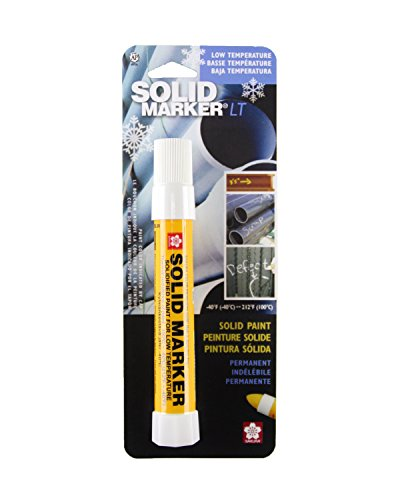 Sakura 46655 White Solidified Paint Low Temperature Solid Marker, -40 to 212 Degree F, 13 mm Twist-Up Tip (Industrial Marker)