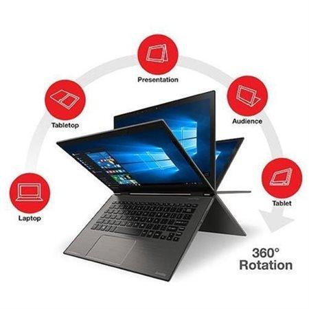 2017 Toshiba Satellite Radius 2 In 1 12 5  4K Ultra Hd 3840 X 2160 Touchscreen Laptop  Intel Core I7 6500U 2 5Ghz  8Gb Ram  512Gb Ssd  Backlit Keyboard  Hdmi  Wifi  Bluetooth  Windows 10  Gray