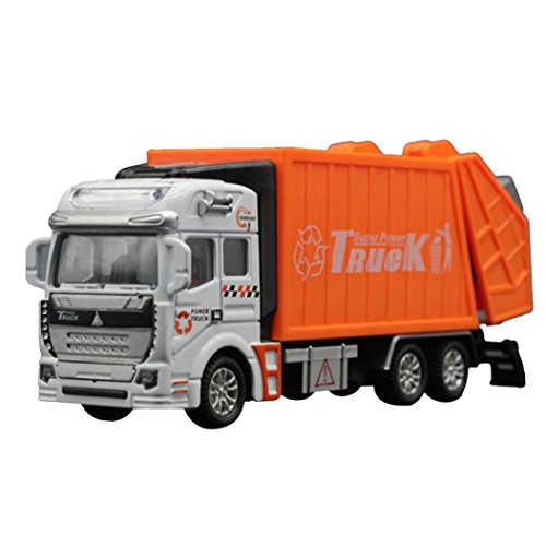 Orange Bike Shop (Education Toy,Baomabao 1:32 Racing Bicycle Shop Truck Toy Car Carrier Vehicle Garbage Truck)