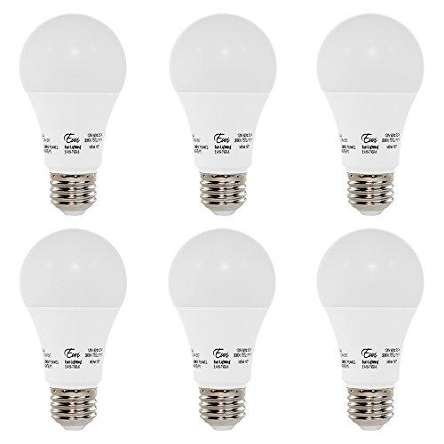 Euri Lighting EA19-7100-6 LED A19 Bulb, Econ Line, Soft White 3000K, Non-Dim, 9.5W (60W Equivalent), 750 lm, 150 Degree Beam Angle, Medium Base (E26), UL-Listed (Pack of 6)