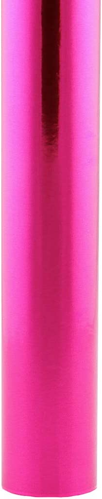 Hygloss Products Metallic Foil Paper Premium Gift Wrap Roll Feet-13 Sq Total, 6 Ft. x 26 Inch, Fuschia