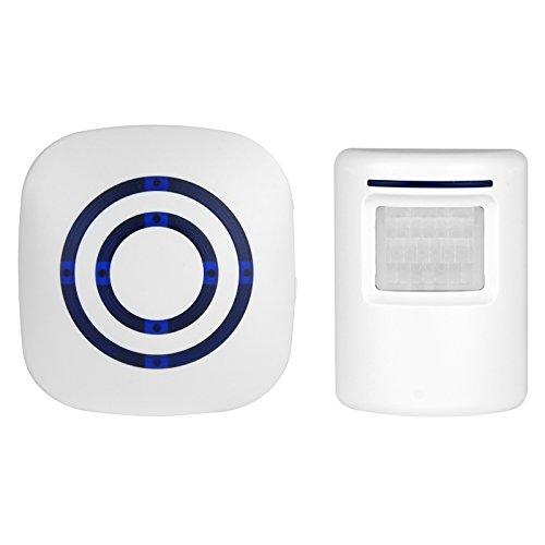 BearHoHo Door Bell Alarm PIR Motion Sensor Chime 38 Tones 1 Receiver and 1 PIR Sensor.