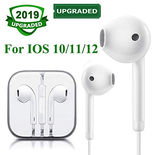 Earbuds Wired Headphones Earphones Headset with Microphone and Remote Control, Compatible with iPhone X/Xs Max/XR 7/8/8Plus IOS 10/11/12 Plug and Play