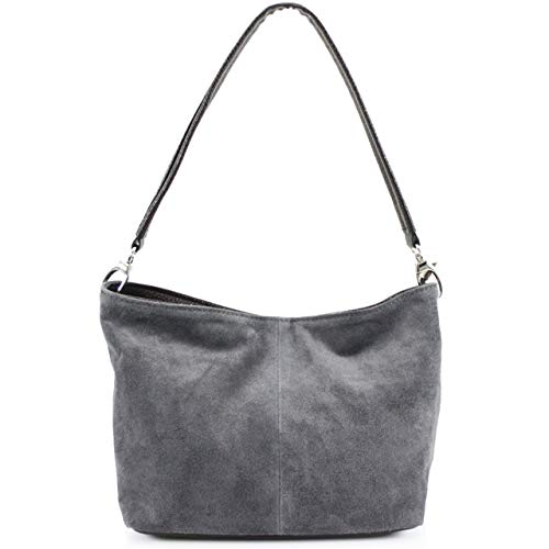 fashions Al Vp Para Bolso Oscuro 57 Ante S Hombro Mujer Gris Rs De gxd8wngq
