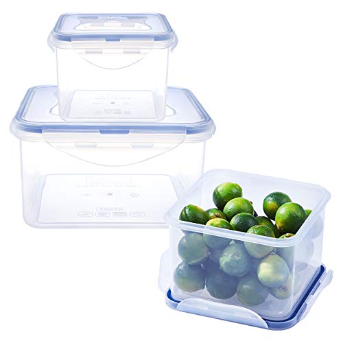 Airtight Food Storage Containers with Lids - Plastic Food Containers with Lids - Plastic Containers with Lids - Lunch Containers Kitchen Storage Containers with Lids BPA-Free Food Container ()