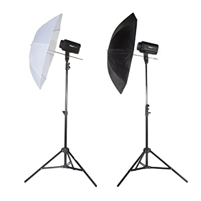 StudioPRO Double 320W/s Monolight Flash Photography Photo Studio Strobe Light Two 160W/s Monolights with Umbrella Kit by StudioPRO