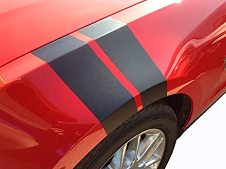 Mustang Fender Hash Stripes Mustang Accessories Gloss Black
