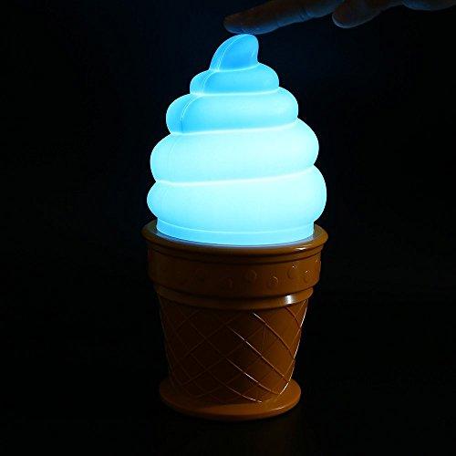 Gelato Pendant Light (Ice Cream Lamp Led Table Night Light For Children Kids The Top To Turn On Or Off (Blue))