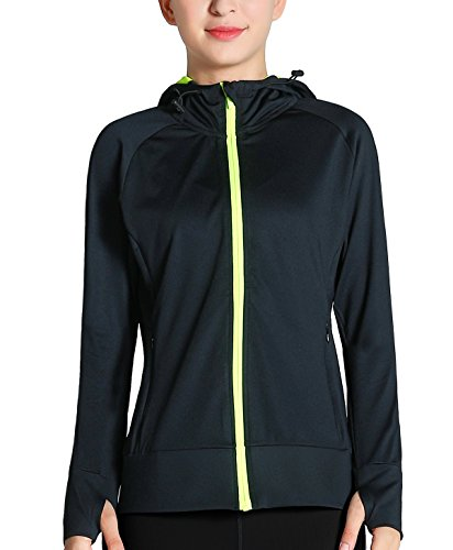 Fastorm Workout Jacket For Women Full Zip With Thumbholes Athletic Running Sweatshirts...