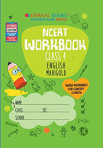 Oswaal NCERT Workbook English Class 4 (For 2022 Exam)
