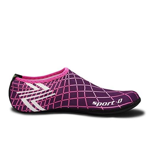 Cior 3. Oppgradert Versjon Holdbare Eneste Barfot Vann Hud Sko Aqua Sokker Til Strand Basseng Sand Svømme Surfe Yoga Vannaerobic 04w.pink
