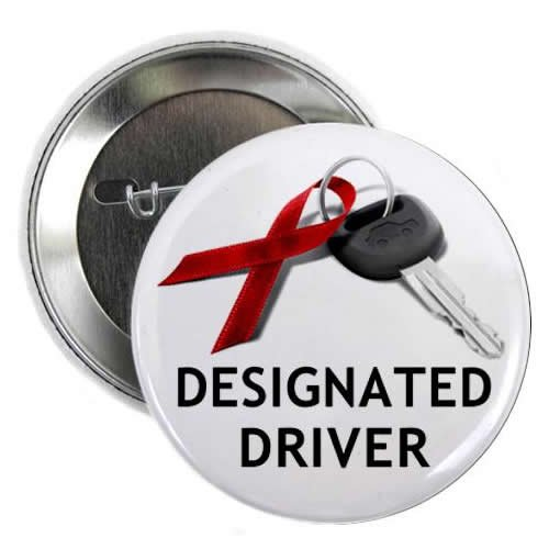 Mylar Driver (December Drunk Driving Prevention Designated Driver 2.25 inch Pinback Button Badge)