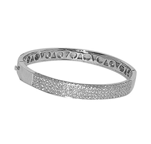 865bf6214437d Amazon.com: Silver White Bangle Bracelet-1: Jewelry