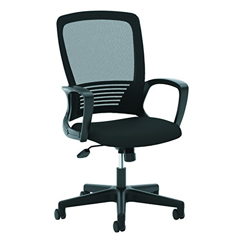 (HON High Back Task Chair - Mesh Back Office Chair for Computer Desk, Black (HVL525))