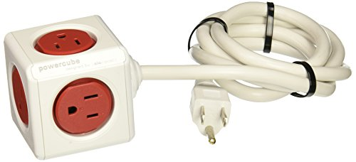 Allocacoc 4320RD/USEXPC Powercube Extended Power Strip, 5'