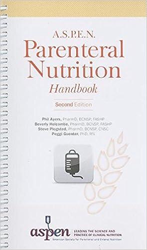 Aspen parenteral nutrition handbook 9781889622194 medicine aspen parenteral nutrition handbook 2nd edition fandeluxe Choice Image
