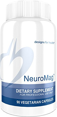 Designs for Health - NeuroMag - 144mg Chelated Magnesium for Brain Support, 90 Capsules