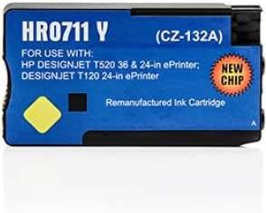 Cartucho de tinta compatible para impresora HP Designjet T520 Séries – DesignJet T 520 Series – amarillo: Amazon.es: Oficina y papelería
