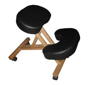 Silla a3k oficina ergon mica negra con apoyo para las for Sillas ergonomicas con apoyo lumbar