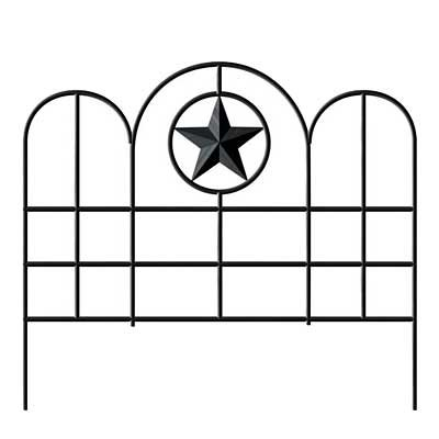 Panacea Garden Edge with Star, Black, 16''H, Pack of 12