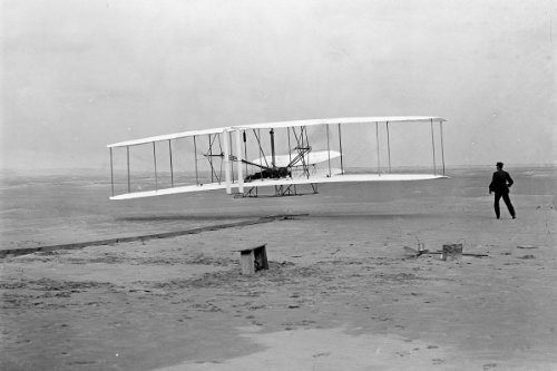 New 5x7 Photo: Wright Brothers First Heavier-than-air Flight at Kitty Hawk